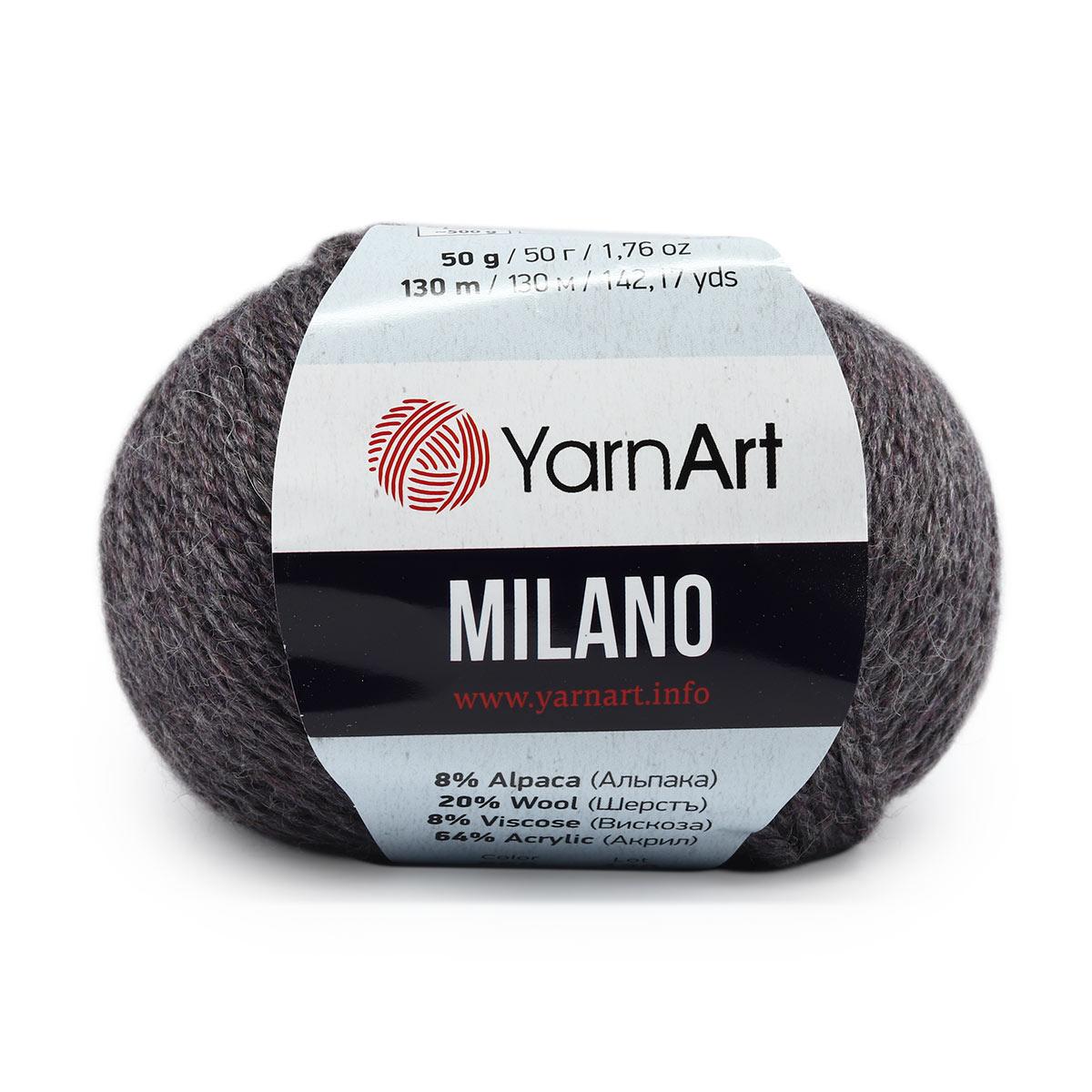 Пряжа YarnArt 'Milano' 50гр 130м (8% альпака, 20% шерсть, 8% вискоза, 64% акрил)