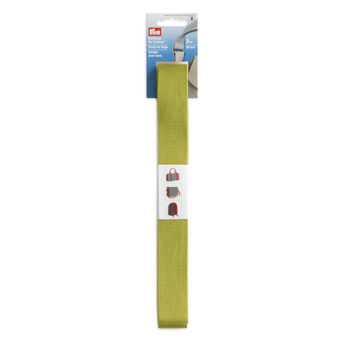 965190 Лента-ремень для сумок 30мм*3м цв.зеленый Prym