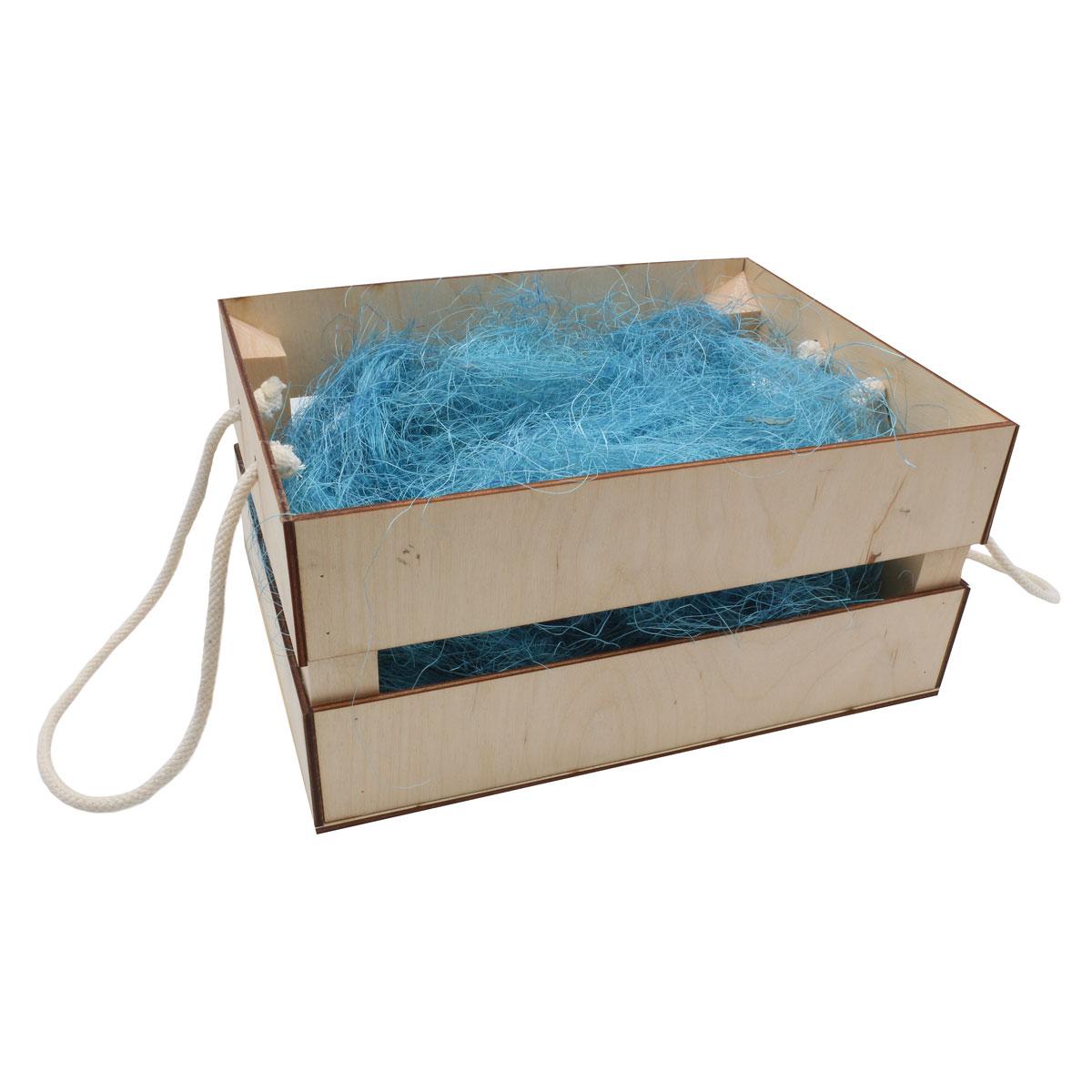 Деревянный ящик для оформления подарка с наполнением №10, 20*25 см