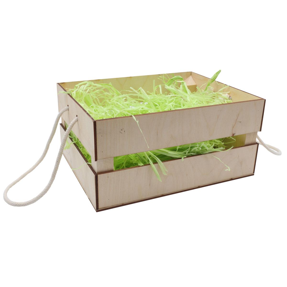 Деревянный ящик для оформления подарка с наполнением №11, 20*25 см