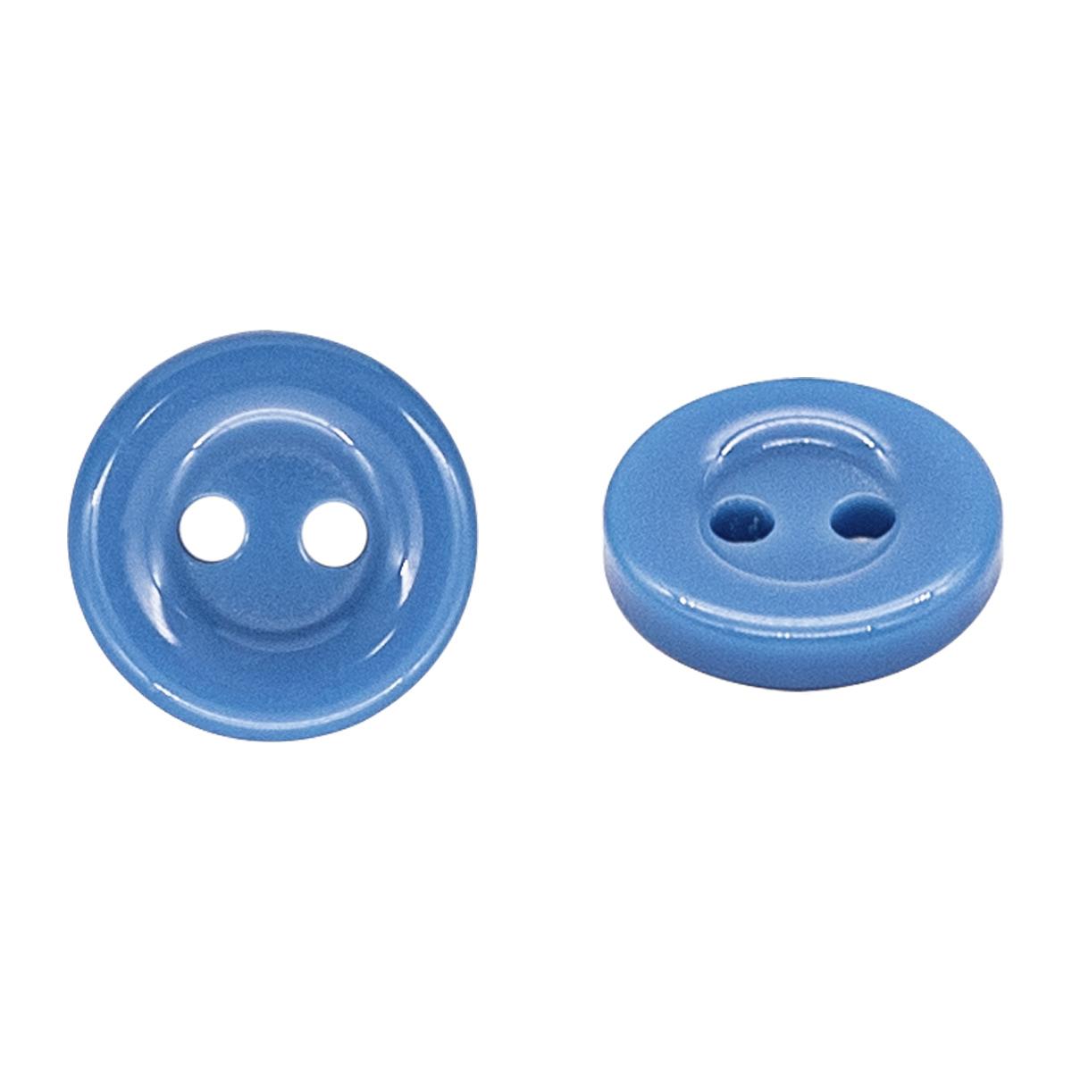 Пуговица на прокол 18L, цв. голубой, 15 шт/упак