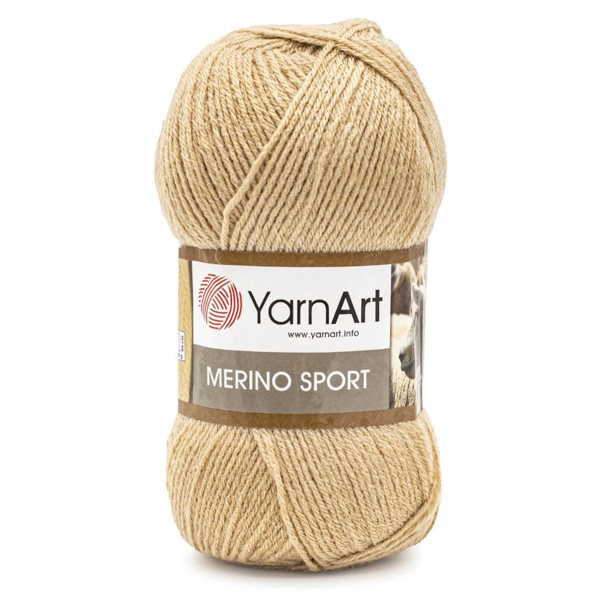 Пряжа YarnArt 'Merino Sport' 100гр 400м (50% шерсть, 50% акрил)