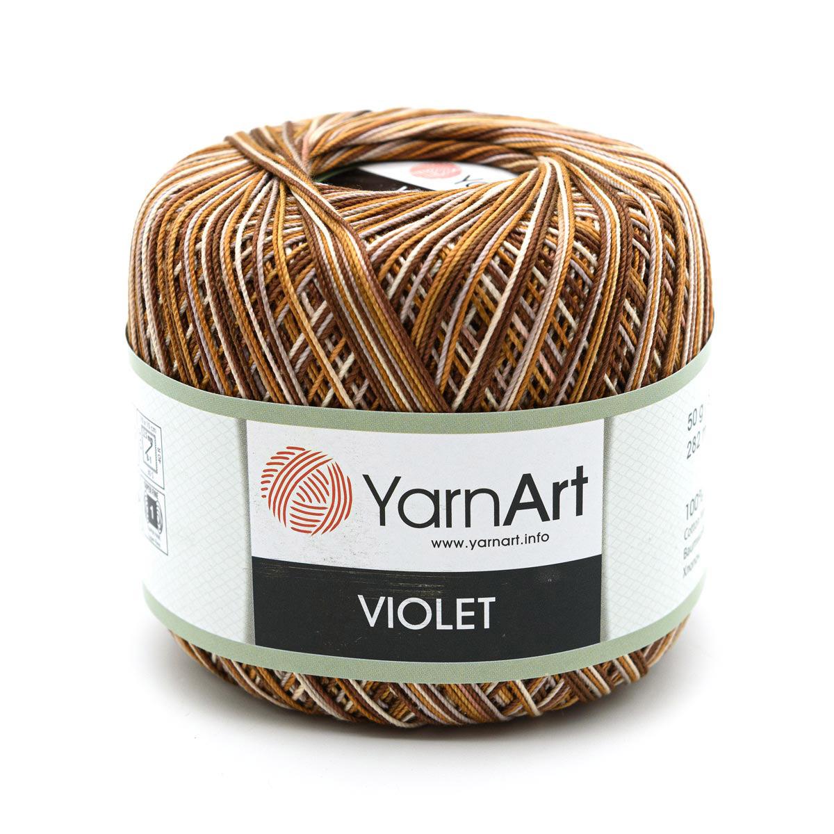 Пряжа YarnArt 'Violet Melange' 50гр 282м (100% мерсеризированный хлопок)