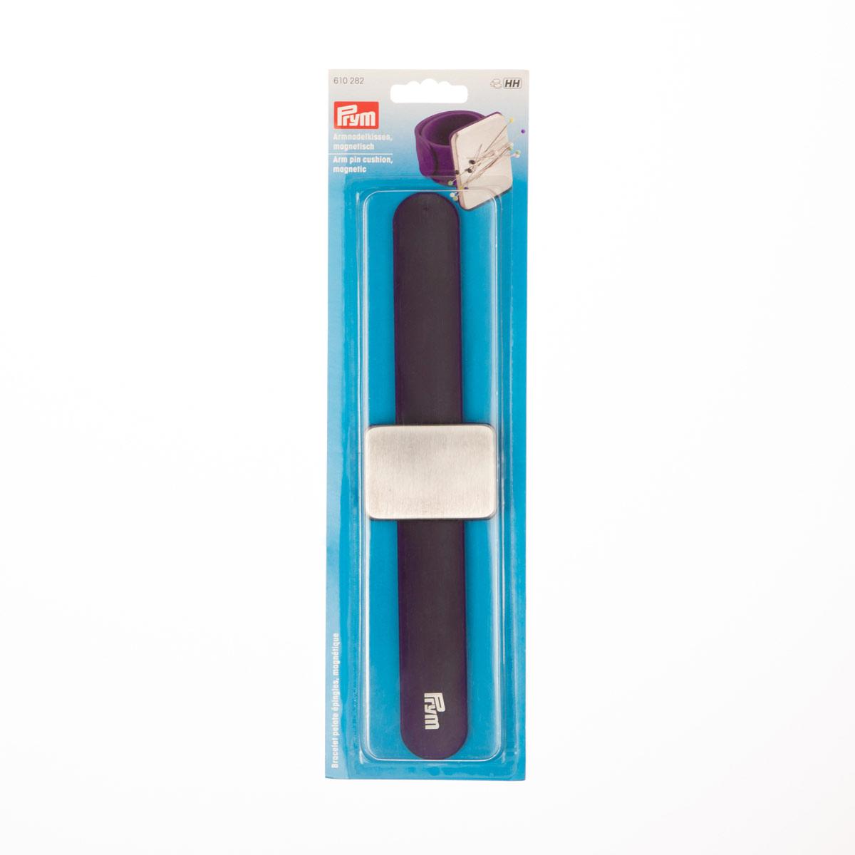 610282 Игольница магнитная на руку, фиолетовый цв. 1шт., Prym