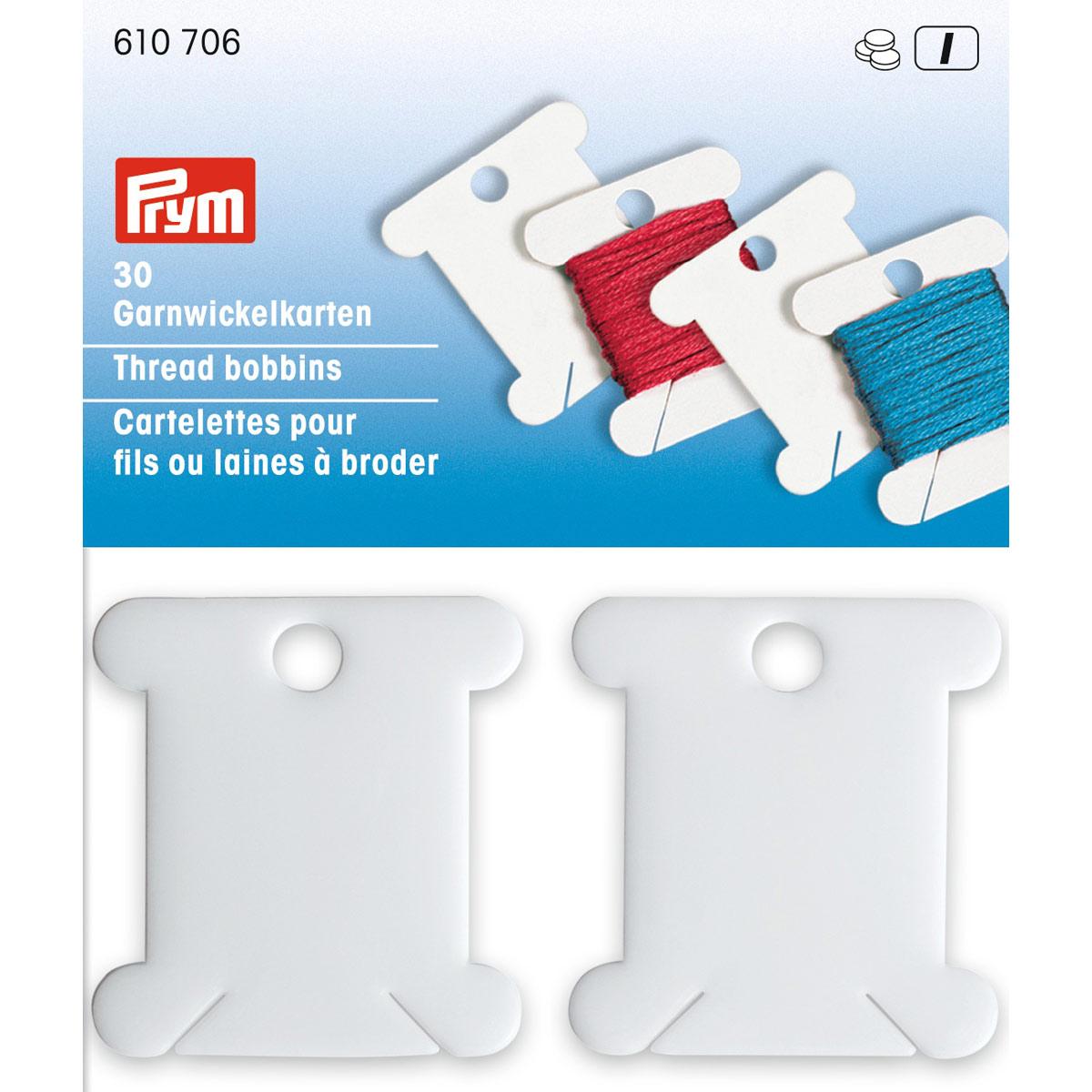 610706 Шпульки для наматывания мулине, пластик, Prym