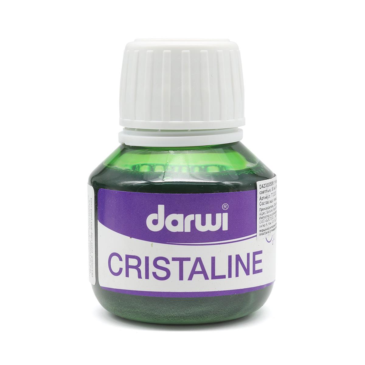 DA2300050611 Чернила Cristaline, зеленые светлые, 50 мл, Darwi