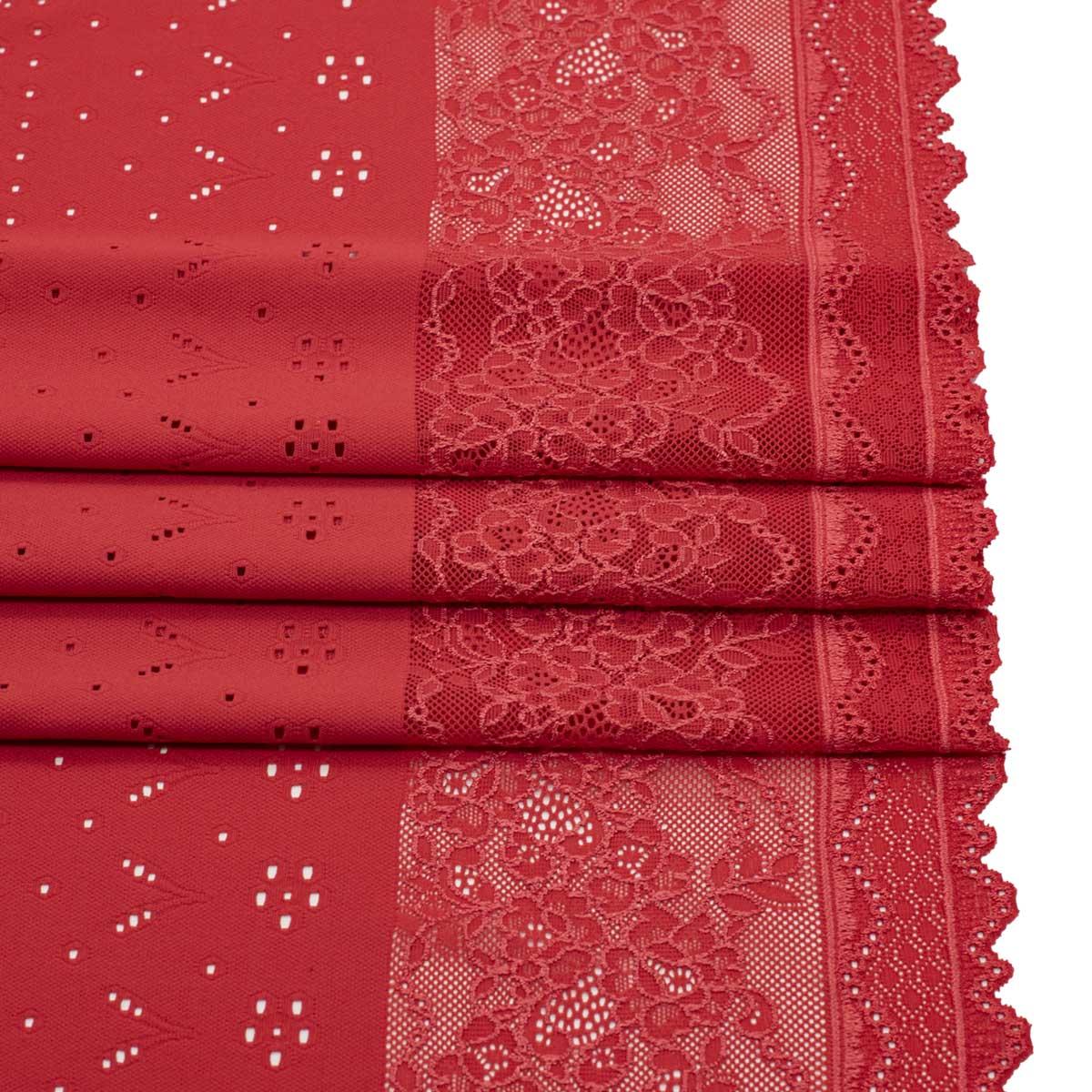 SU-02 Ткань эластичная бельевая 55 см*10 м, красный