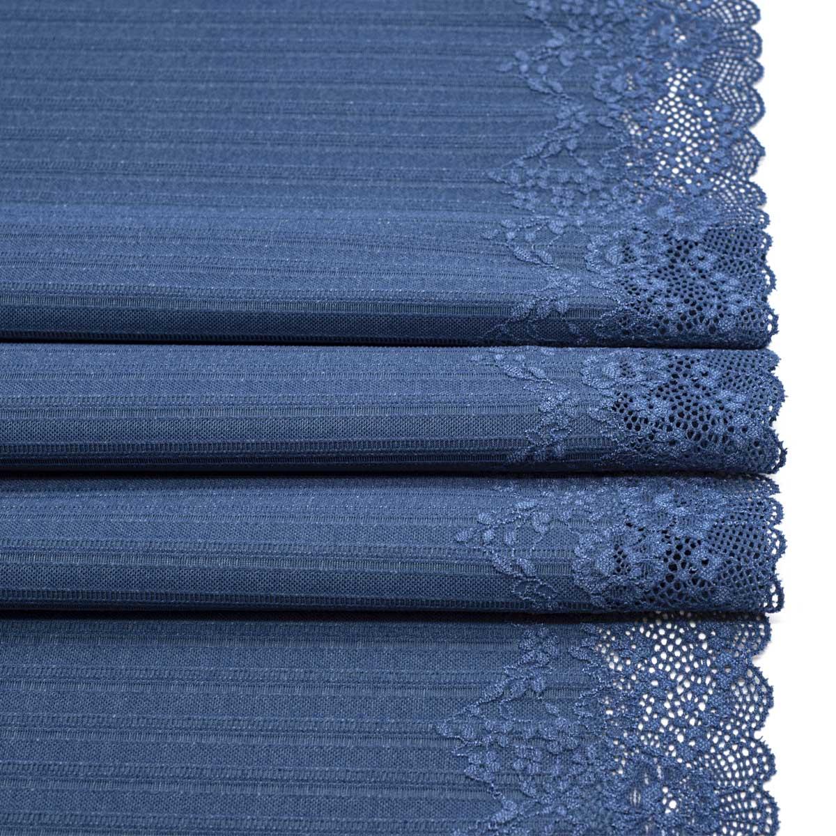 SU-05 Ткань эластичная бельевая 44,5 см*10 м, синий