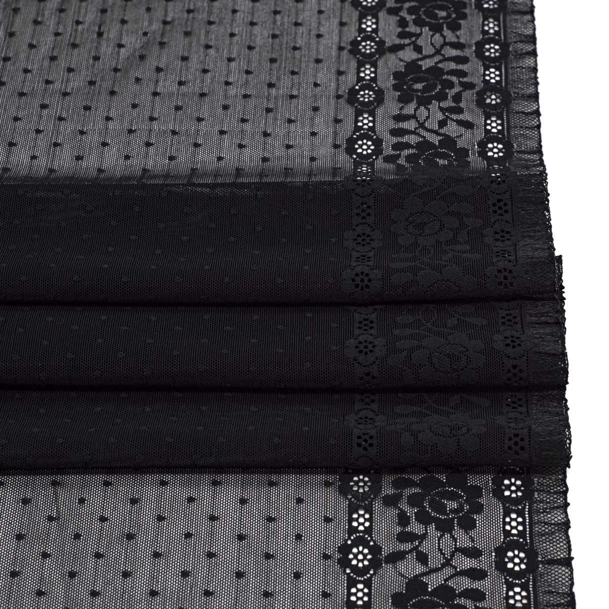 SU-11 Ткань эластичная бельевая 36 см*10 м, черный
