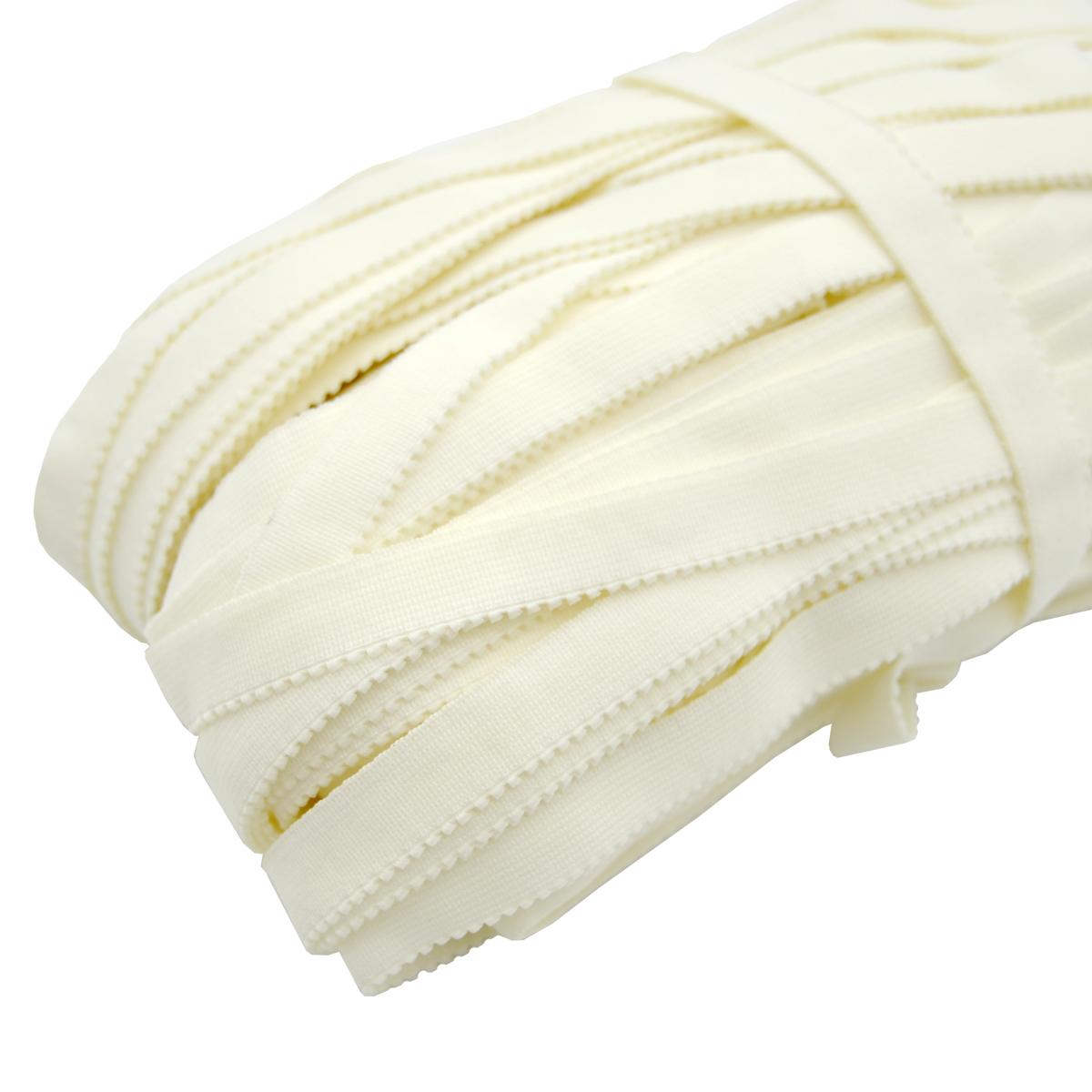 ST/16 эластичная ажурная лента 12мм*50м, белый