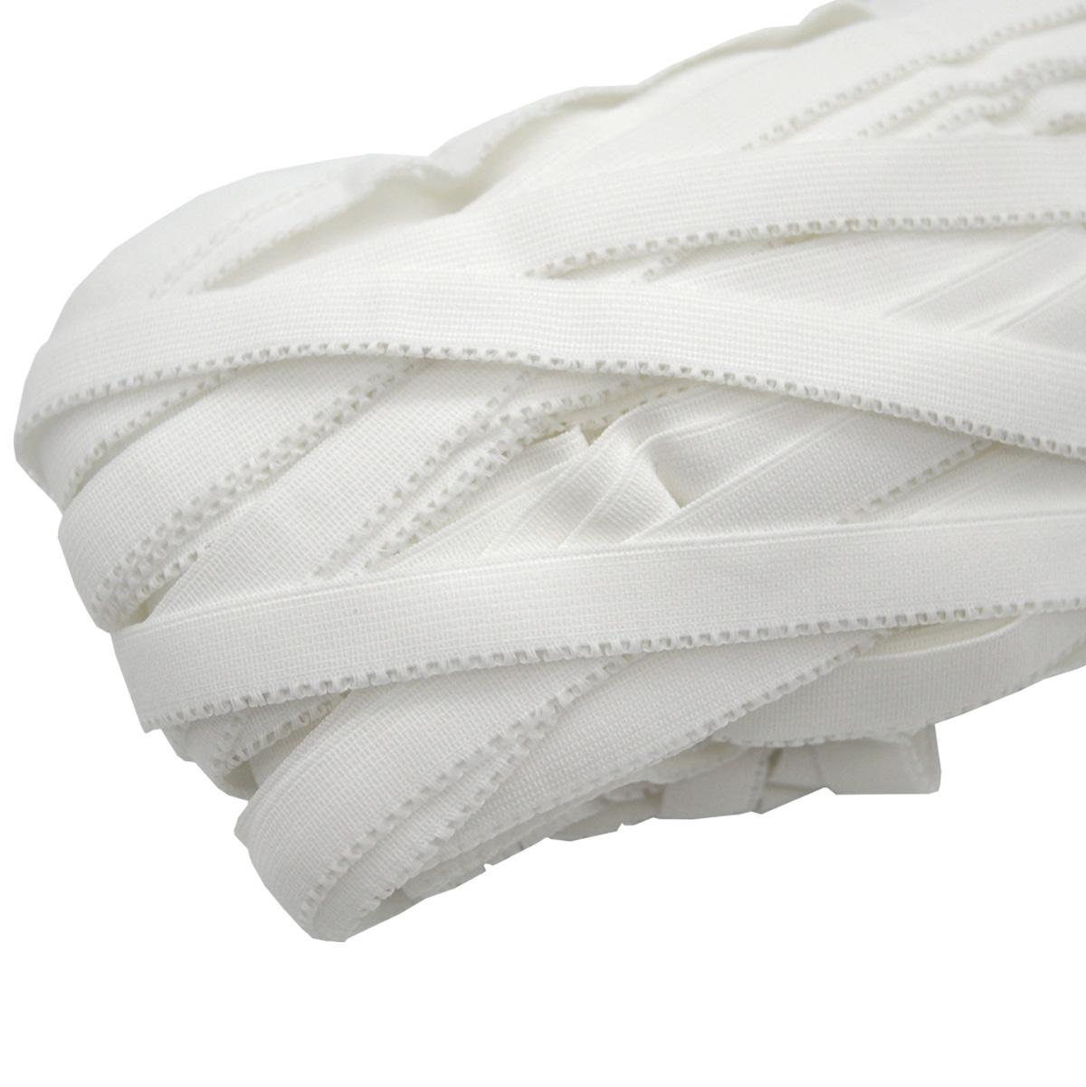 ST/18 эластичная ажурная лента 12мм*50м, белый