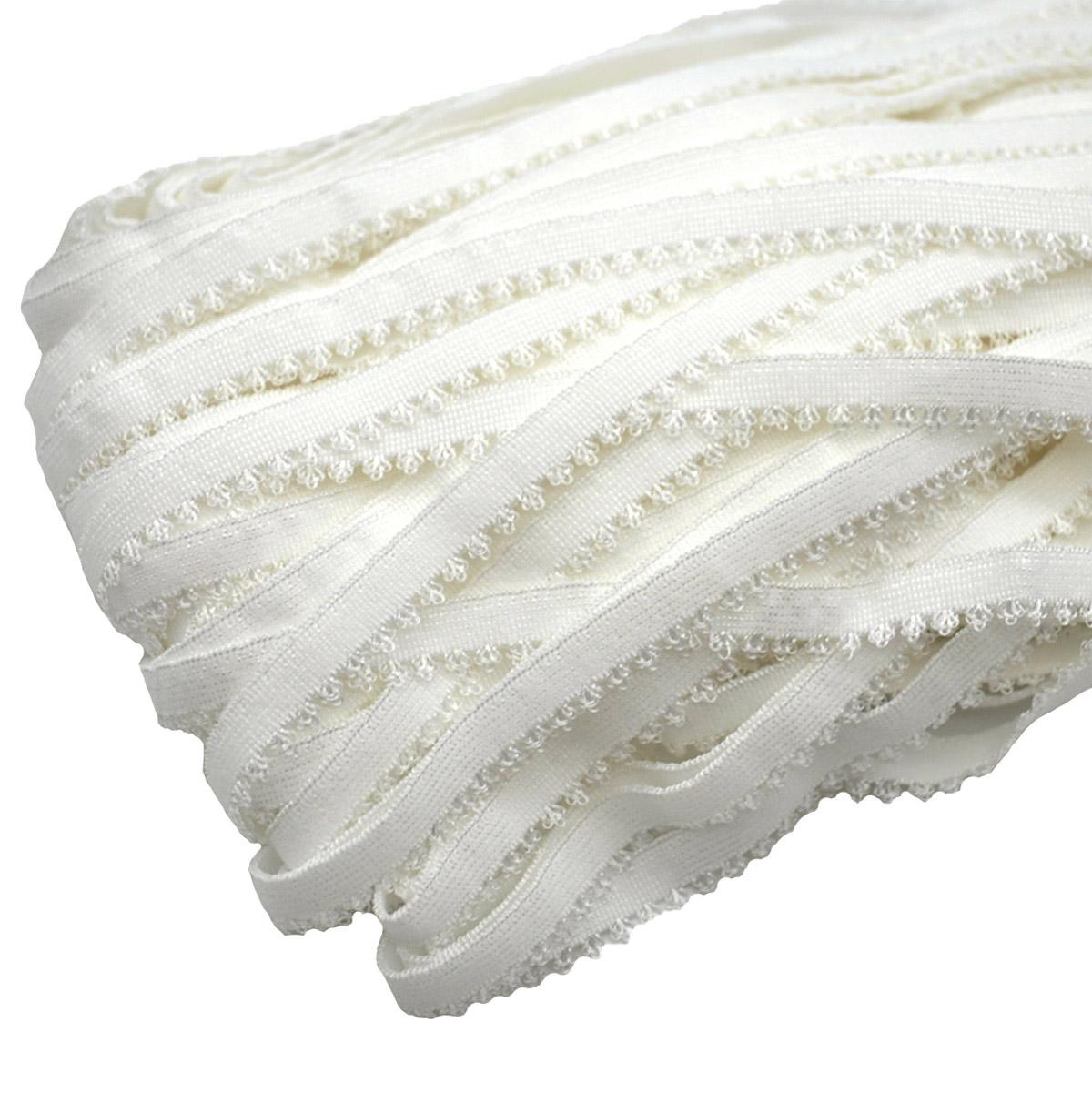 ST/40 эластичная ажурная лента 10мм*50м, белый