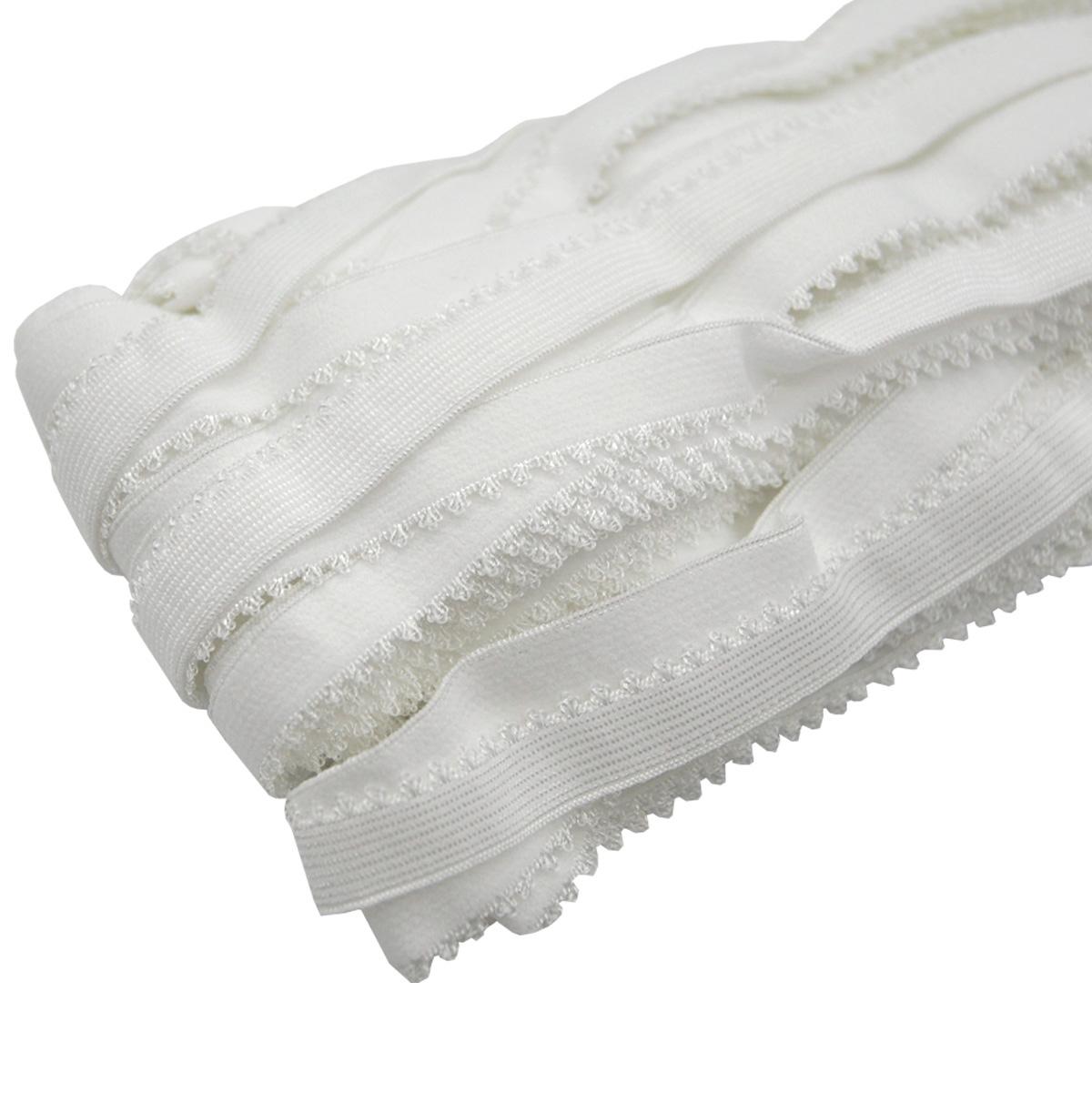 ST/41 эластичная ажурная лента 14мм*25м, белый