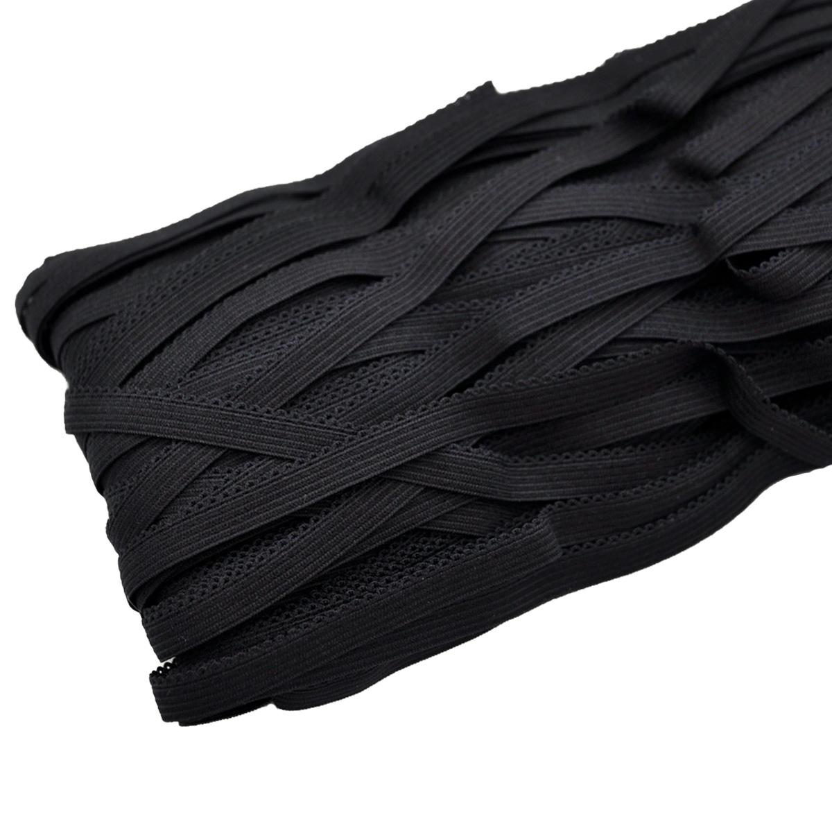 STB/04 эластичная ажурная лента 8мм*50м, черный