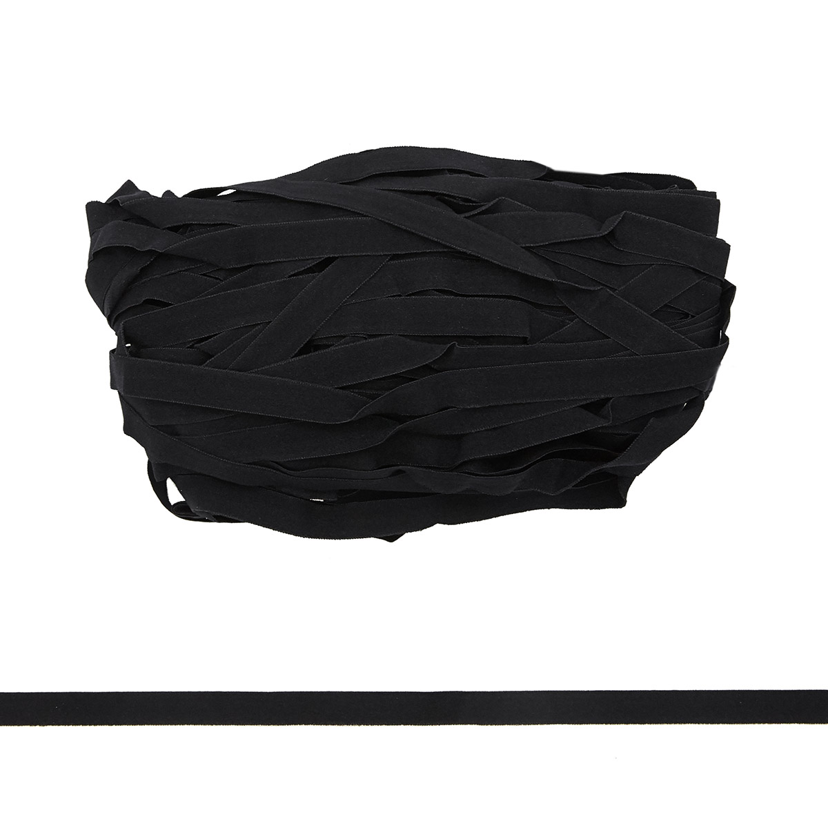 STB/13 эластичная отделочная лента 12мм*50м, черный
