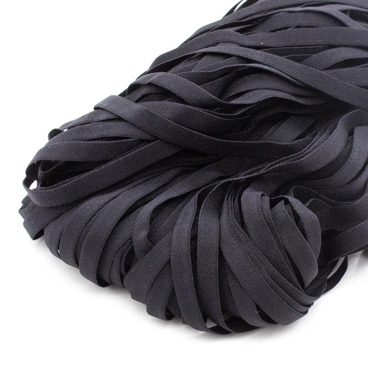 STB/17 эластичная отделочная лента 6мм*50м, черный