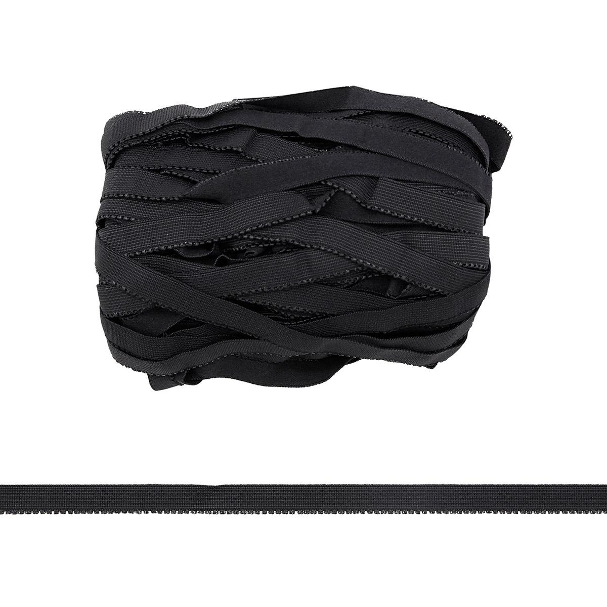 STB/22 эластичная бретелечная лента 14мм*25м, черный