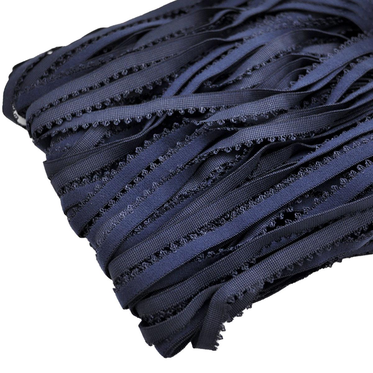 STD/20 эластичная ажурная лента 10мм*50м, темный сине-серый