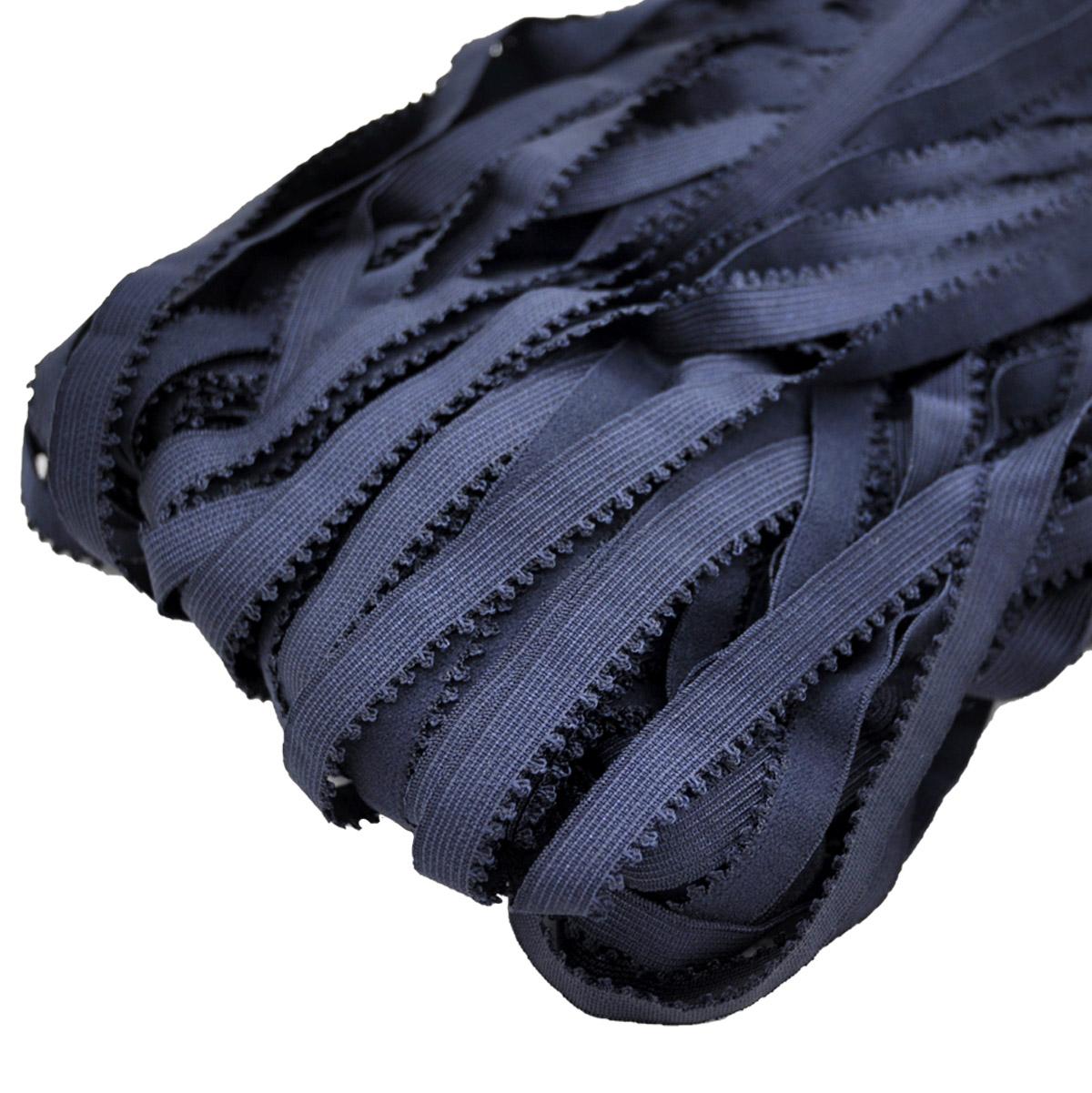 STD/24 эластичная ажурная лента 12мм*50м, темно-синий