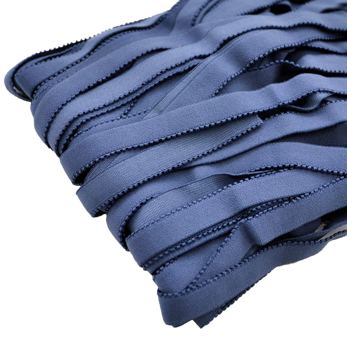 STD/29 эластичная отделочная лента 14мм*25м, сине-серый