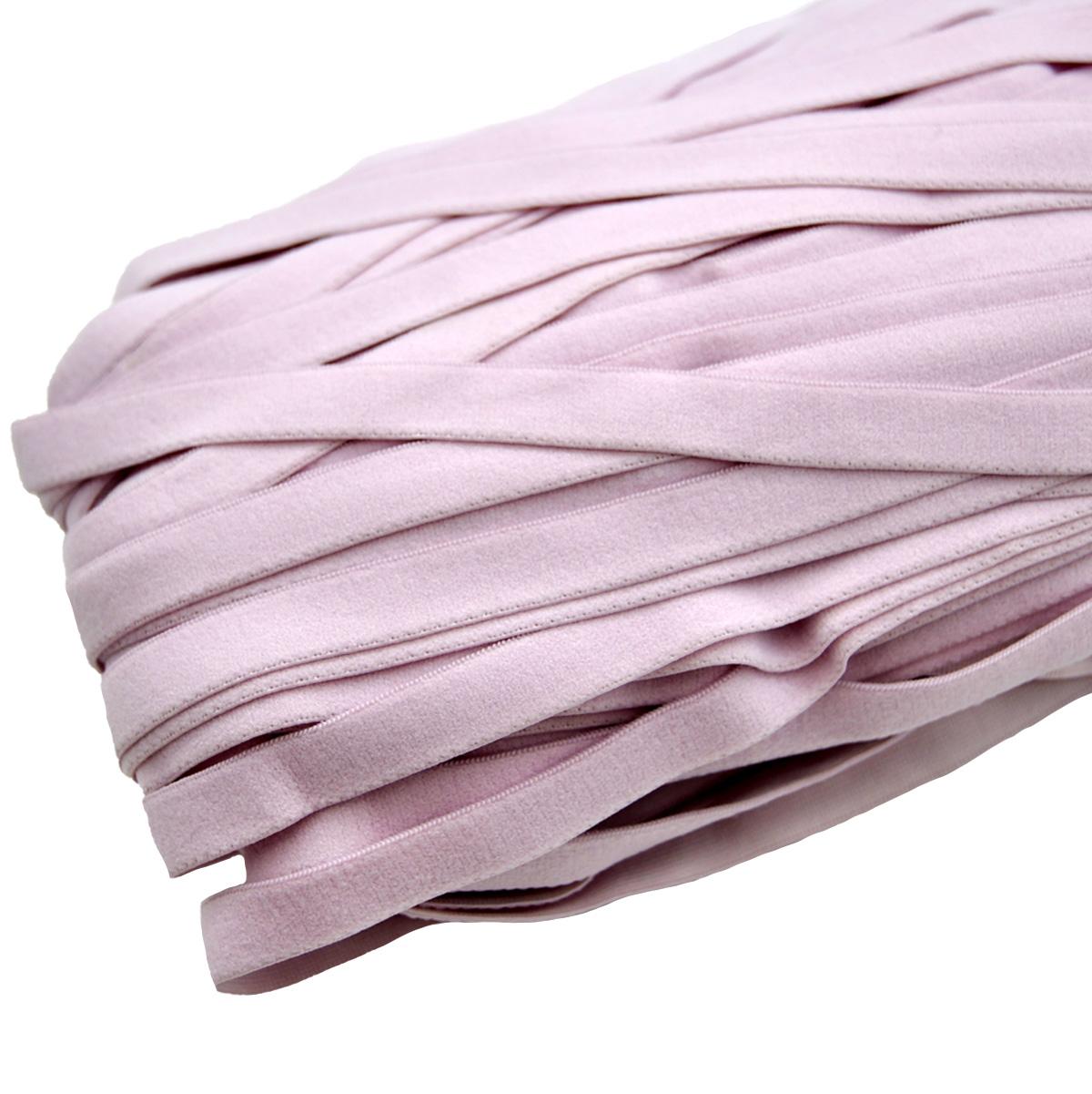 STD/67 эластичная отделочная лента 12мм*25м, розово-сиреневый