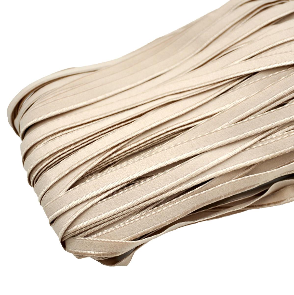 STD/100 эластичная отделочная лента 8мм*50м, светлый серо-бежевый