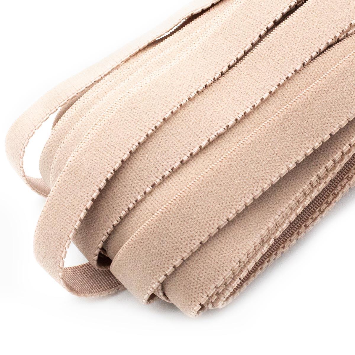 STD/112 эластичная отделочный лента 14мм*25м, бледный серо-коричневый