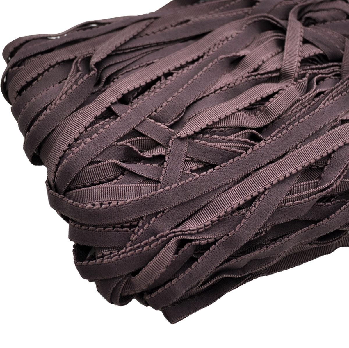 STP/23 эластичная ажурная лента 8мм*50м, бурый