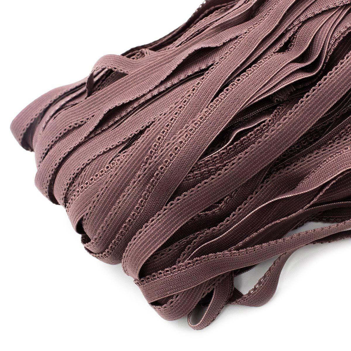 STP/24 эластичная ажурная лента 8мм*50м, какао