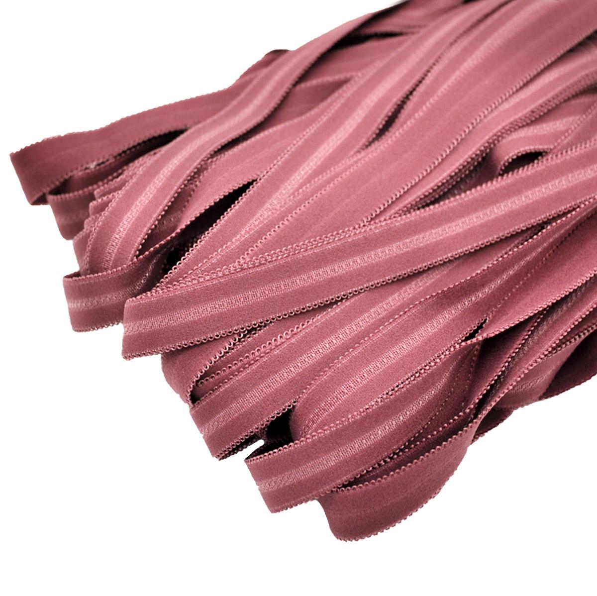STP/60 эластичная бретелечная матовая лента 18мм*25м, пурпурный