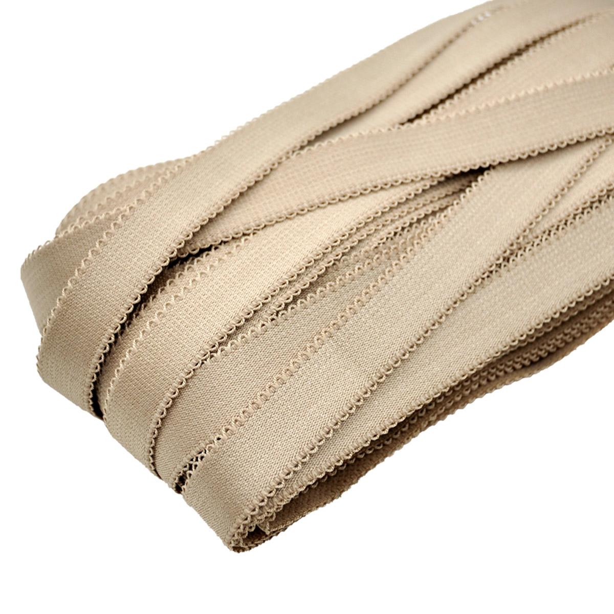 STP/63 эластичная бретелечная глянцевая лента 20мм*25м, капучино