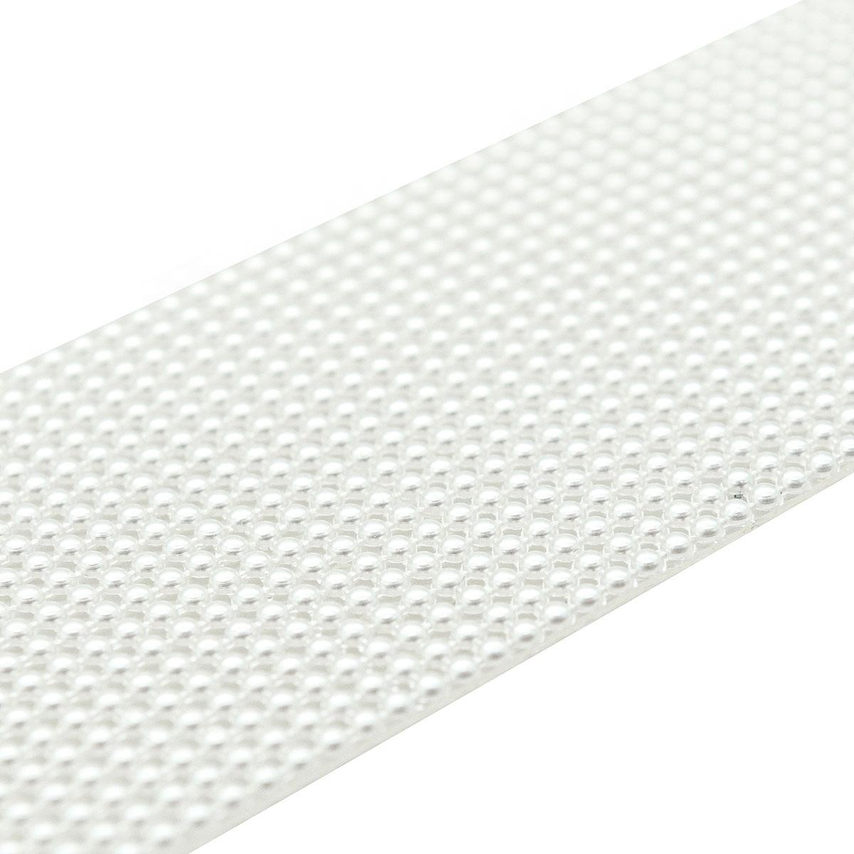 4AR014 Полотно из жемчужных полубусин 2мм термоклеевое, 5*25см