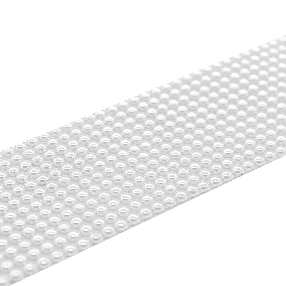 4AR016 Полотно из жемчужных полубусин 4мм термоклеевое, цв. белый, 5*25см