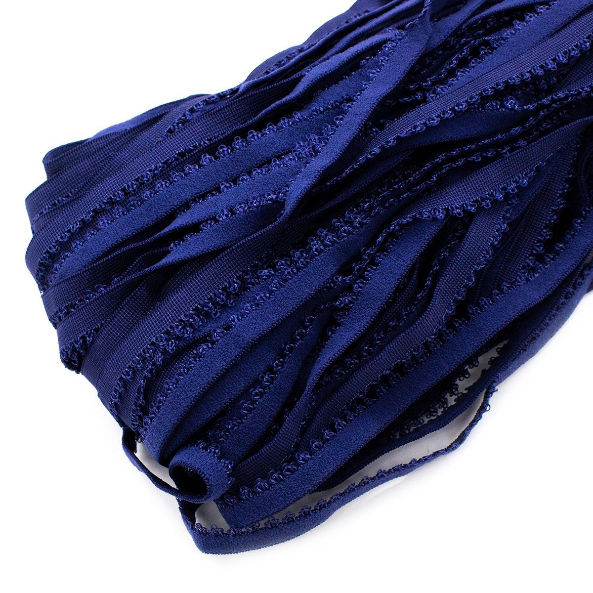 STP/101 эластичная лента ажурный край 10мм*50м, св. синий
