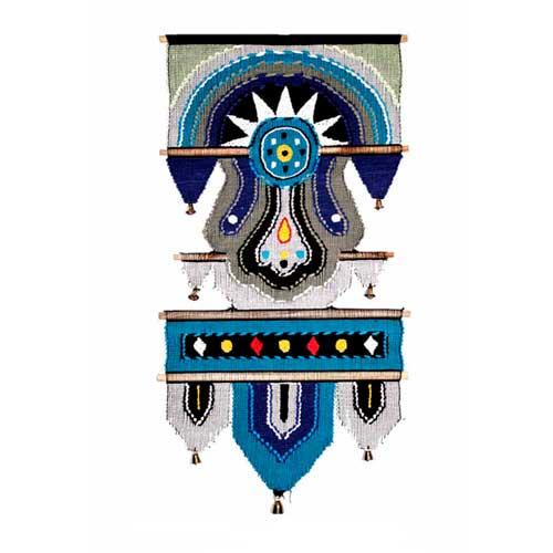 432ABlue Коврик декоративный хлопковый 35х60см