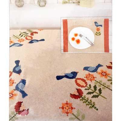 67251-52-76 RICO DESIGN Набор для вышивания салфеток 50х35 см, 2 шт.
