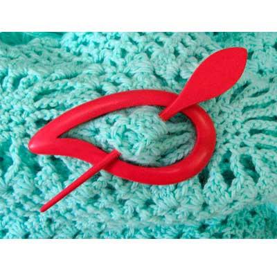 08-3-3 MH COLLECTIONS Заколка декоративная (цветная) 10,0 см х 5,0 см