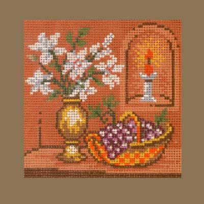 1616-002 MONIKA DESIGN Канва с нанесенным рисунком 16х16 см