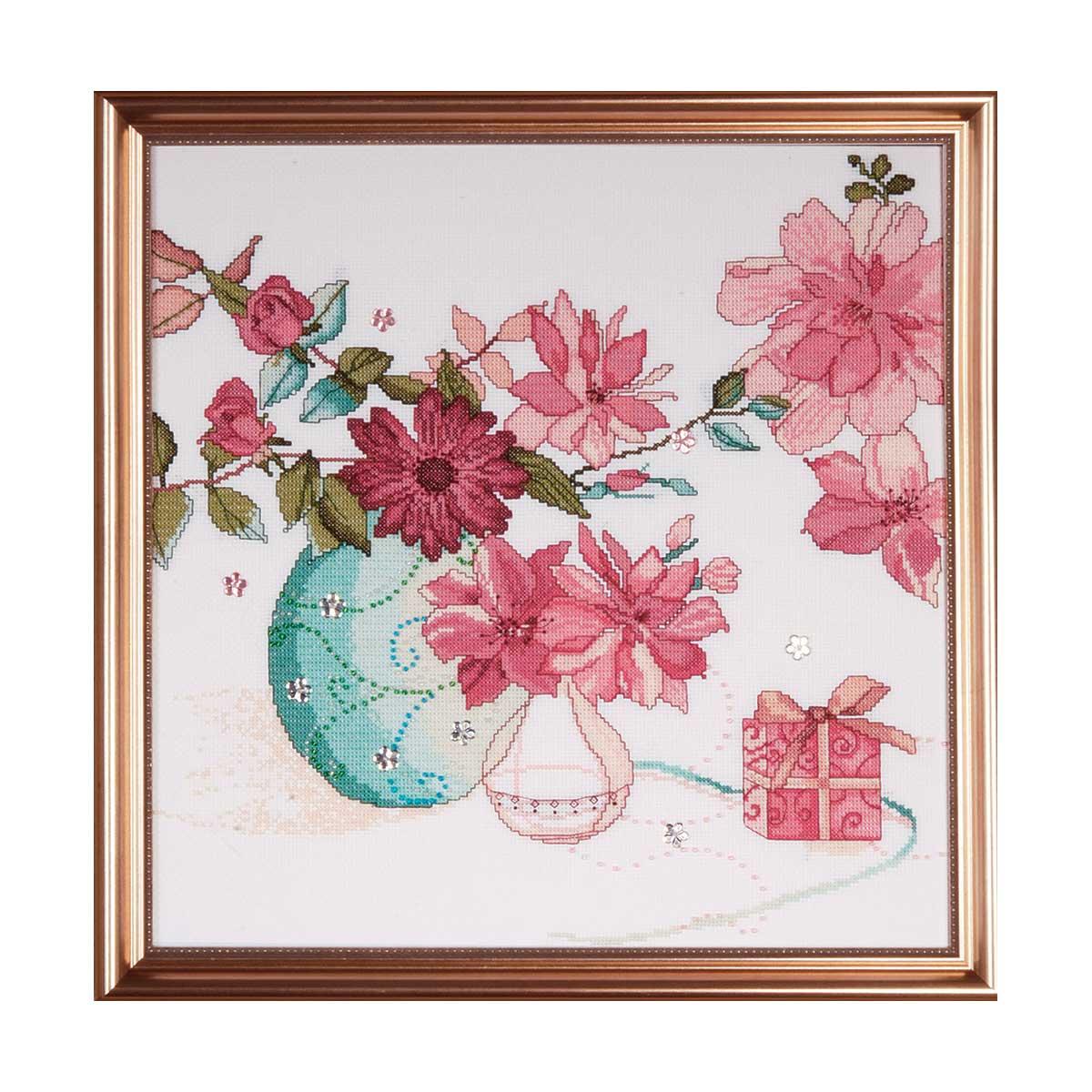 2769 DWC Набор для вышивания 'Розовые цветы' 38х38 см