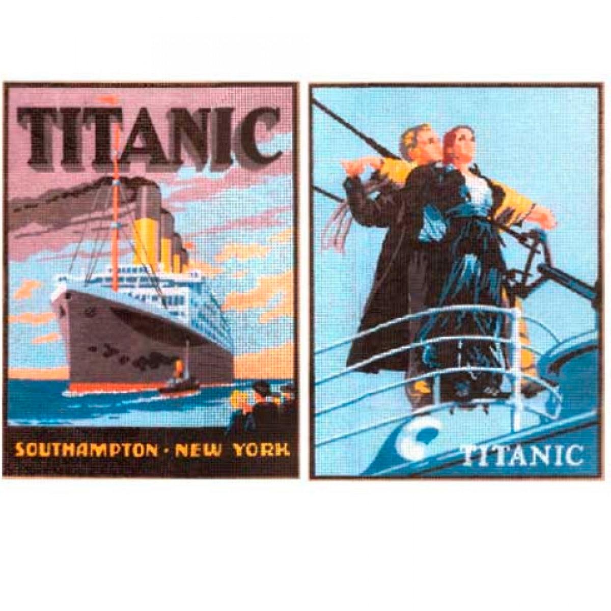 1522-titanic Канва с рисунком 'Титаник'