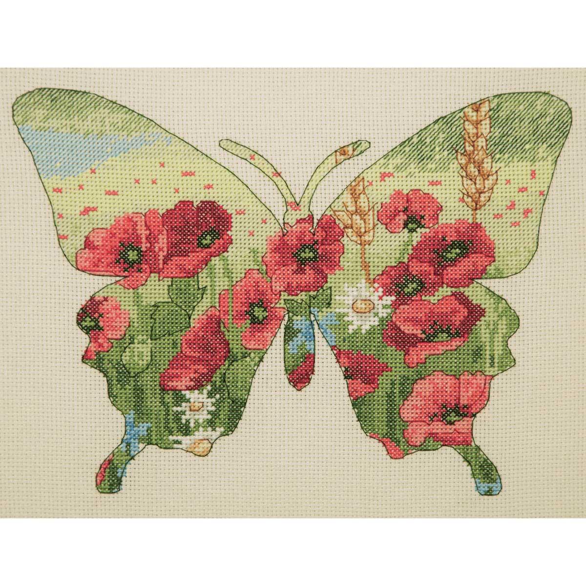 5678-5044 MAIA Набор для вышивания 'Силуэт бабочки' 20х26 см