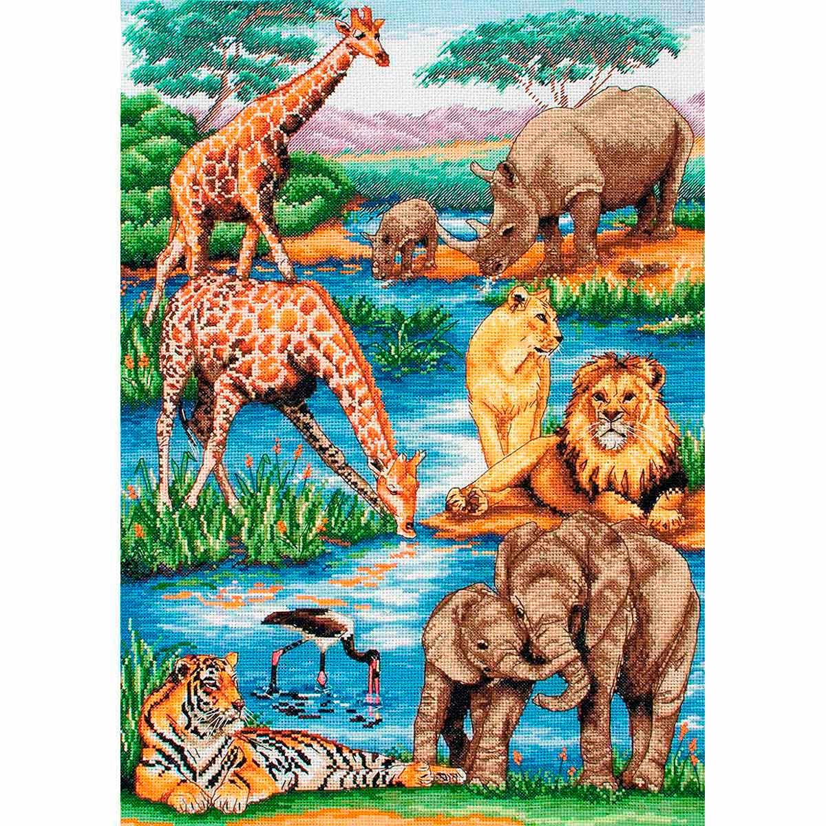 5678-1212 MAIA Набор для вышивания 'Животные Африки' 29х42 см