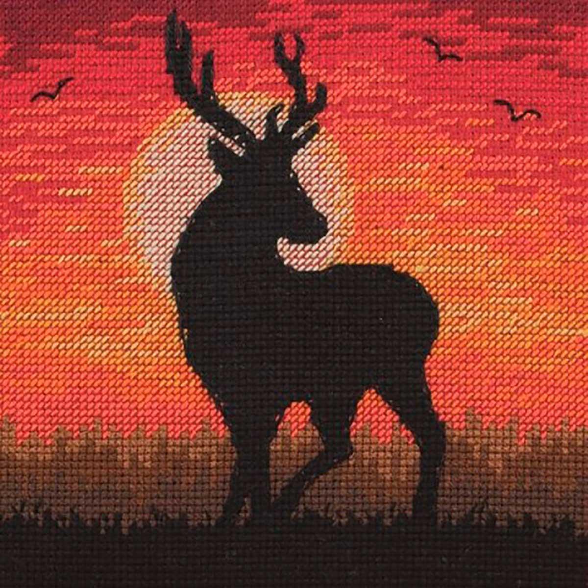 5678-5039 MAIA Набор для вышивания 'Величественный закат' 13х13 см