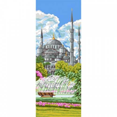 9880-0137-0121-1 Канва с рисунком Royal Paris 'Голубая мечеть' 49х19 см