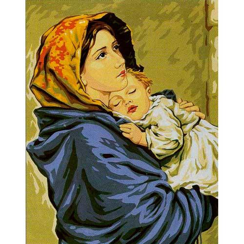 9880-0142-0249 Канва с рисунком Royal Paris 'Мать и дитя' 47,5х37 см