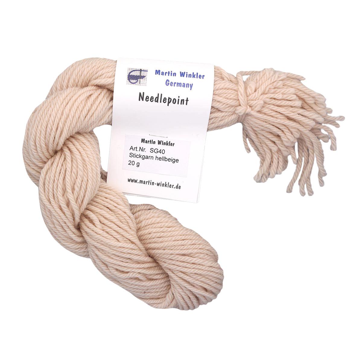 mw-SG40-20g Нити вышивальные 100% шерсть 20г