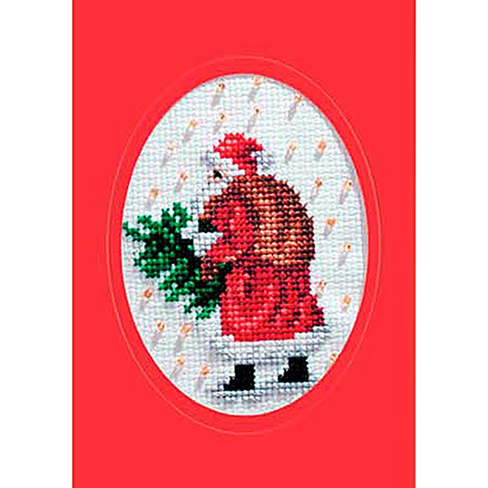 6041 ORCHIDEA Набор для вышивания открытка 10,5х15 см