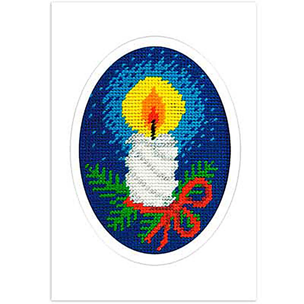 1586 ORCHIDEA Набор для вышивания открытка 10,5х15 см
