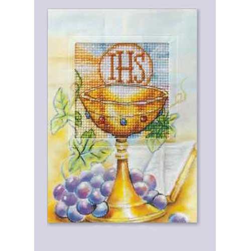 6223 ORCHIDEA Набор для вышивания открытка 10,5х15 см