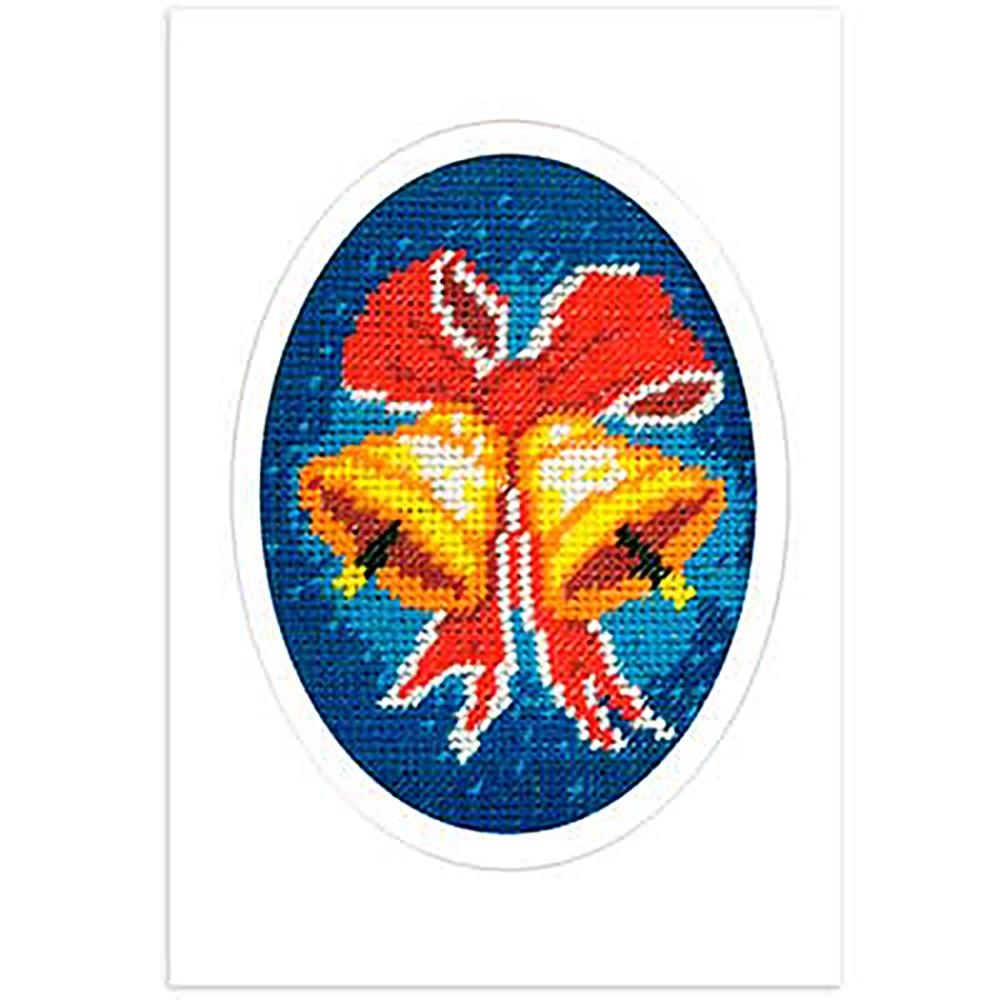 1585 ORCHIDEA Набор для вышивания открытка 10,5х15 см